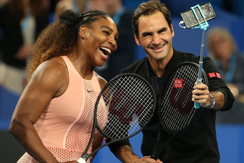 roger federer serena williams tennis perth australia the hopman cup mix doubles Belinda Bencic Frances Tiafoe