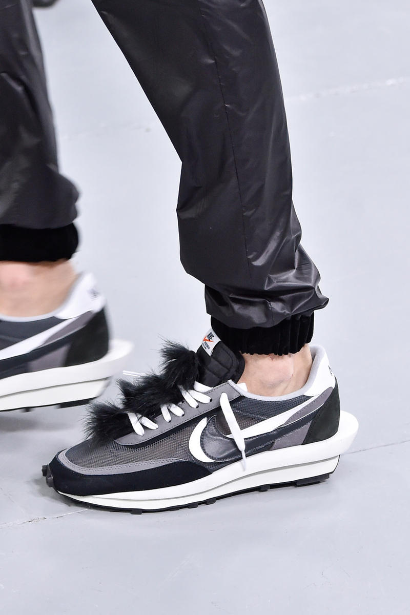 fab596b6dd36 sacai x Nike Sneakers info runway images blazer mid waffle racer fall  winter 2019 paris fashion