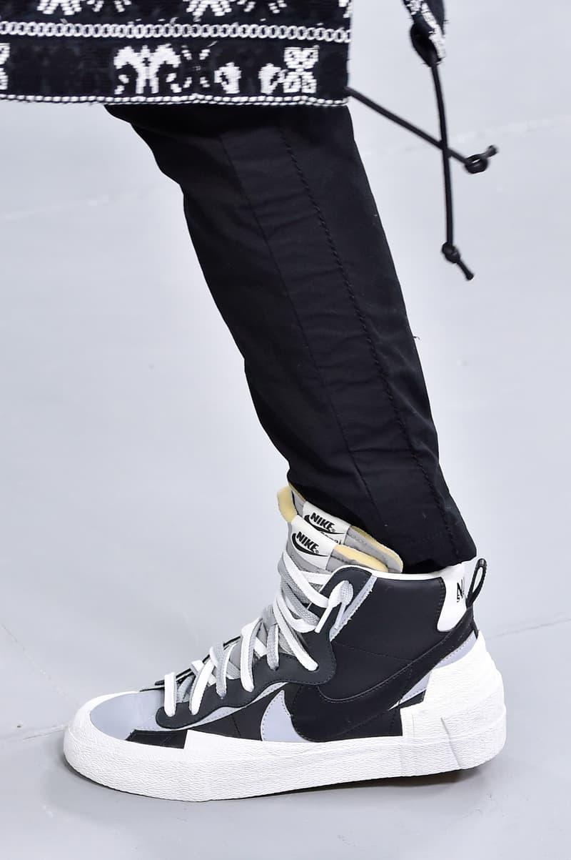 sacai x Nike Sneakers info runway images blazer mid waffle racer fall winter 2019 paris fashion week
