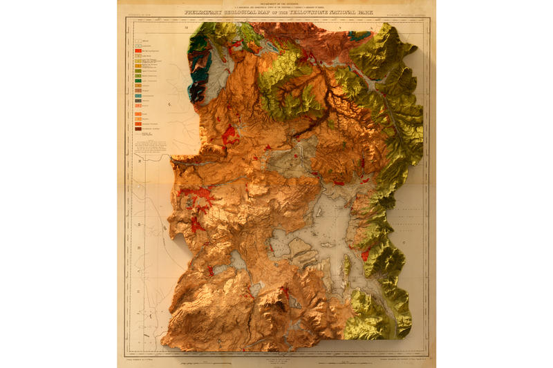 scott reinhard three dimensional maps artwork