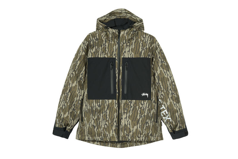 Stüssy FW18 GORE-TEX Capsule Collection Release jacket hat outerwear coat  bucket camouflage fleece pants b6813d3ce21