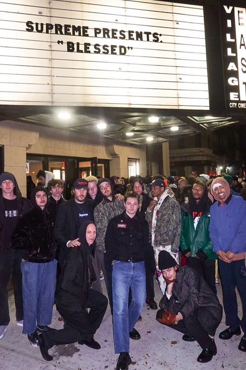 Supreme  William Strobeck BLESSED Premiere skate film cinema village january 4 2019 new york ticket buy see watch