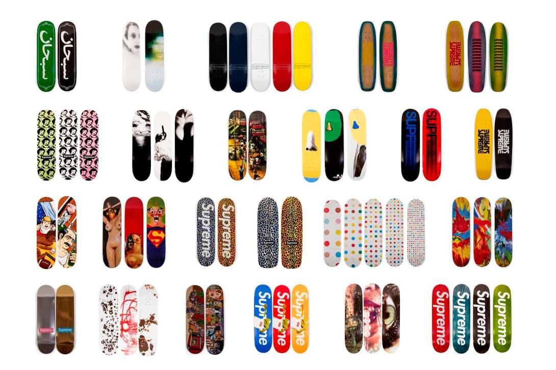 Supremo Skate Deck Sotheby's Leilão skateboarding Ryan Fuller louis vuitton akira