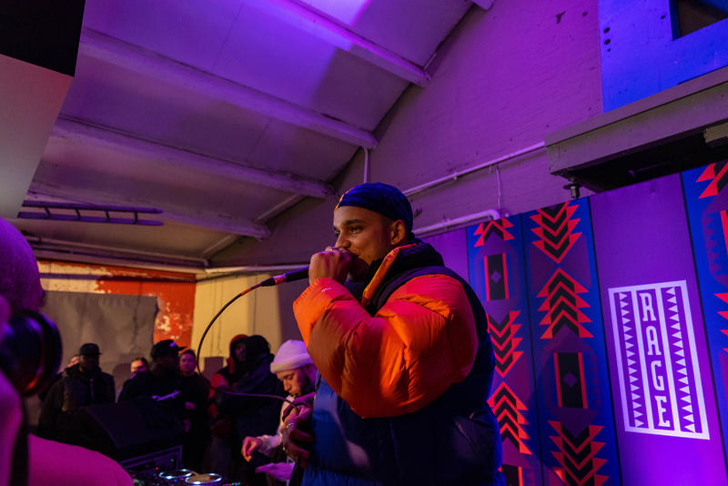 The North Face 92 Rage Collection London Launch Party Snowboarding Tiffany Calver 90s Party VHS Nintendo Video Games Ocean Wisdom