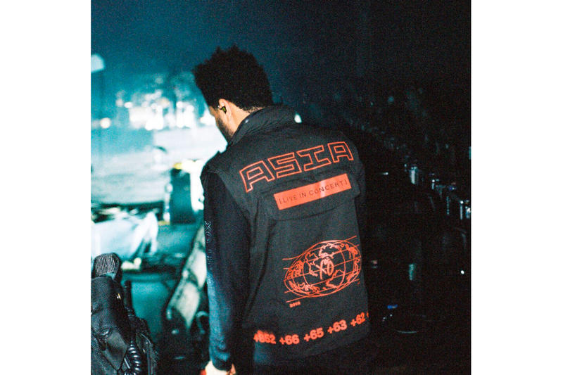 The Weeknd Limited Edition Asia Tour Merch four days 96 hours lookbook ox starboy
