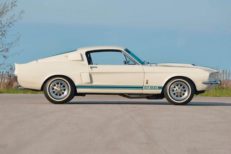 1967 Shelby GT500 Super Snake 2.2 Million USD Auction Sale one of a kind white blue
