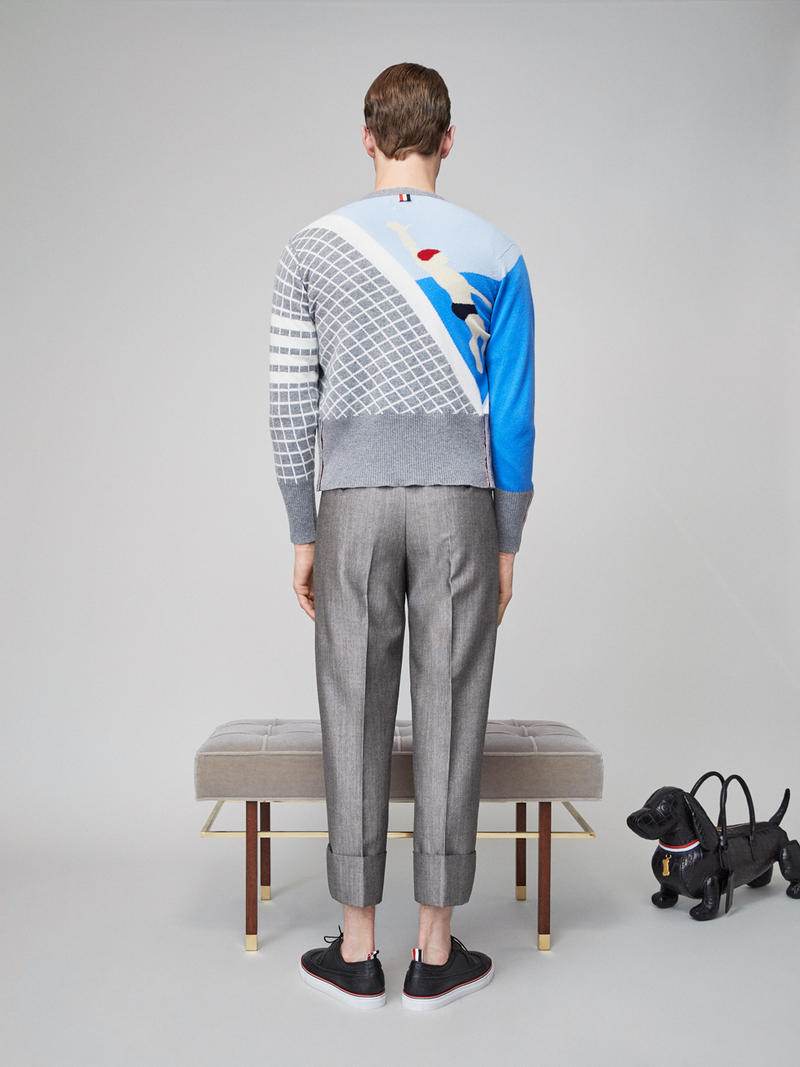 Thom Browne Spring 2019 Lookbook Collection Video Stripes Suits Navy Black White Shirts