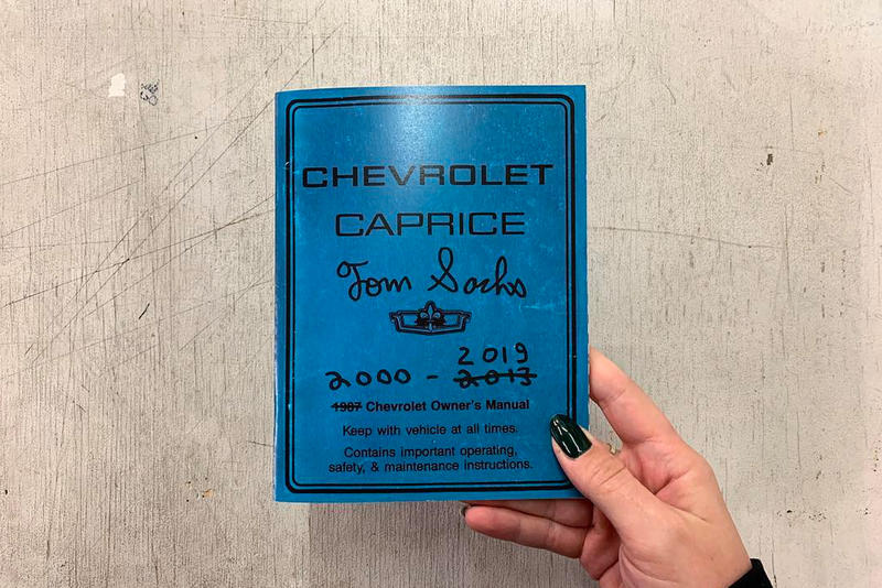 Tom Sachs Releases Second Edition of 'Caprice Owner's Manual'