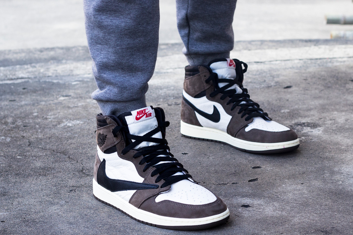 Image result for travis scott ones on feet