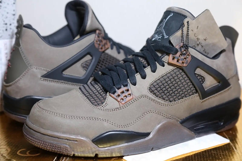 55169d47922161 Travis Scott Air Jordan 4 Olive Closer Look sneaker release Info Date Cactus  Jack Brand Brown