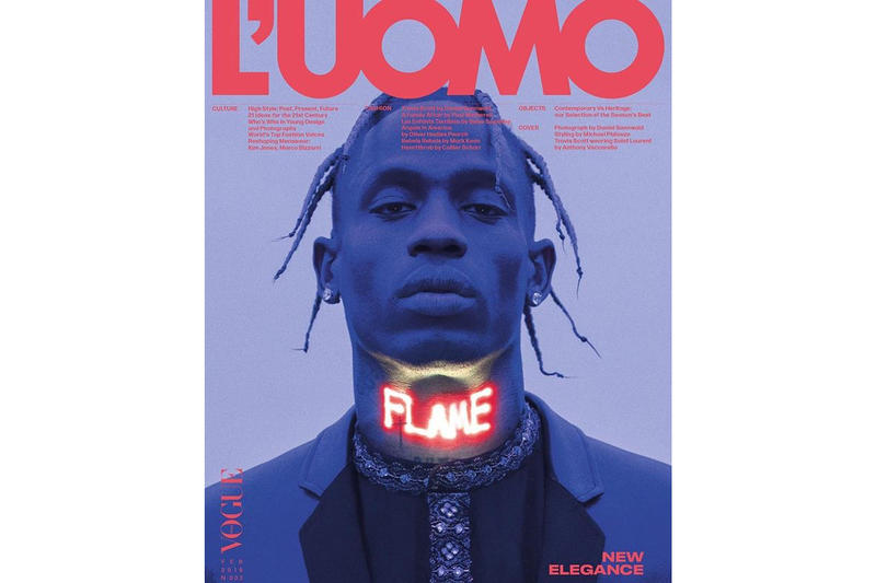 Travis Scott Cover L'Uomo Vogue N. 002 Issue Interview Magazine