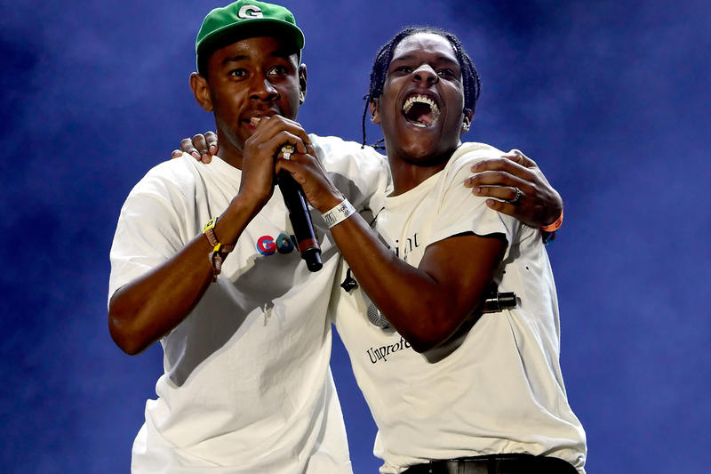 Tyler The Creator A$AP Rocky Collab Album Update Tweet Mad Call Out WANG$AP