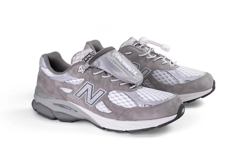 "ULTRAOLIVE x New Balance 990v3 Exclusive Look ""ultra990"" gray ""shoe wallet"" reflective 3m"