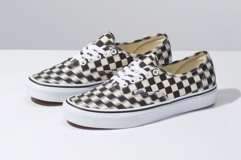 738bc42320 Vans Authentic Blur Check White Black sneakers shoes sneaker shoe  checkerboard vulcanized sole classic