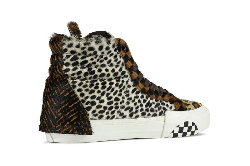 Vans Patches Iconic Sk8-Hi With Different Animal Fur release drop date images info price leopard skin pony hair cheetah tiger strips high top skate sneakers footwear