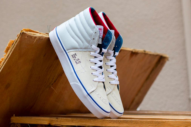 ee97f2d879 Vans Sk8 Hi Inside Out Release Info Date white sail red blue