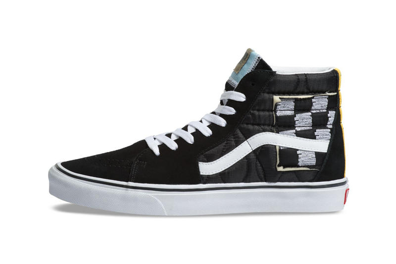 Vans SK8-Hi Mixed Quilting Release Info Date Black True White Yellow Blue  Checkerboard exposed