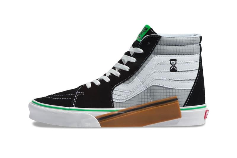 Vans VANSCII Sk8-Hi Release Info Date black grey green grid Blanc De Blanc