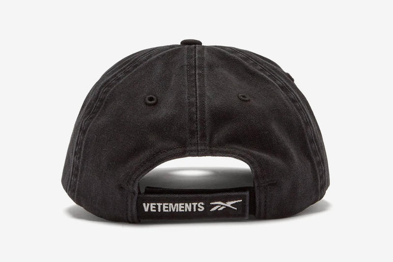 Vetements Reebok Metal Eyelet Cap Release Info Date Black White MATCHESFASHION.COM demna gvasalia
