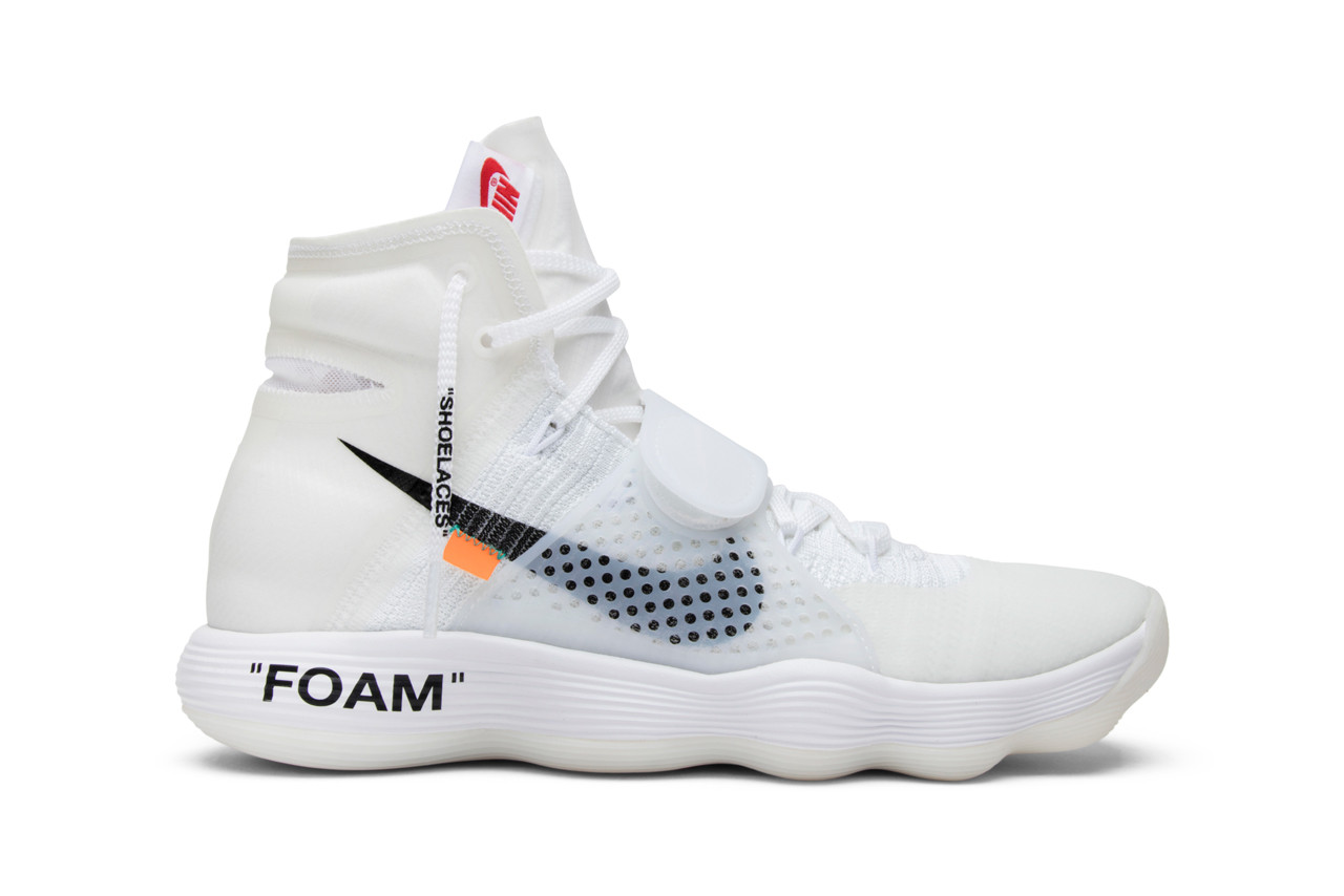 GOAT Looks Back at Off-White's Nike Collabs virgil abloh ten sneakers basketball running sports ghosting deconstruct industrial whit clear red orange brown black translucent icy