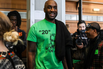 Picture of Virgil Abloh Teases Off-White™ x BAPE Sneaker at LV Fashion Show