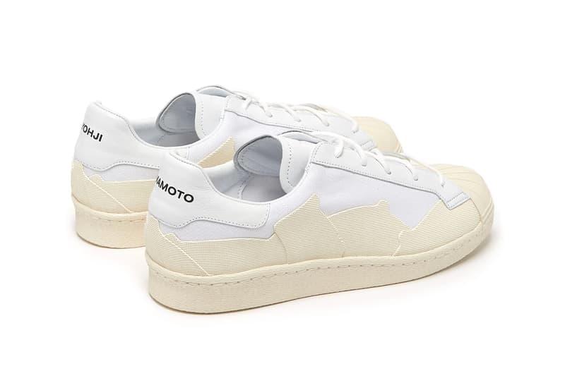 Y-3 Super Takusan Canvas Leather Shoe Details Shoes Trainers Kicks Sneakers Footwear matchesfashion.com adidas Superstar