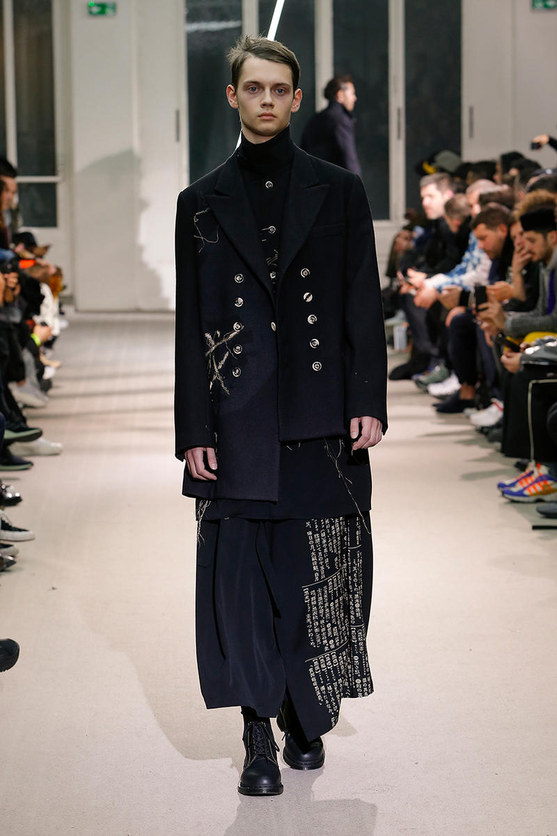 29d86ffb26ab Yohji Yamamoto Pour Homme Fall Winter 2019 runway collection fashion week  paris menswear