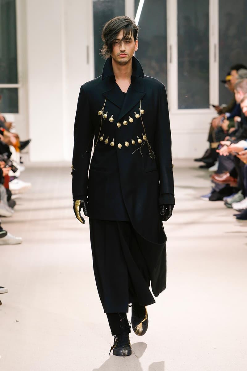 Yohji Yamamoto Pour Homme Fall Winter 2019 runway collection fashion week paris menswear