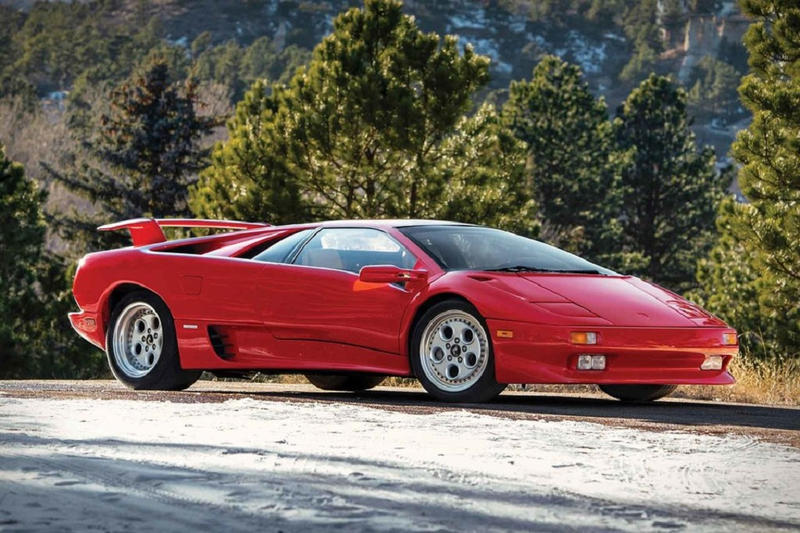 Mario Andretti Red 1991 Lamborghini Diablo Sothebys auction march 2019 ameila island florida where price cost bid info details news pictures pics images imagery car