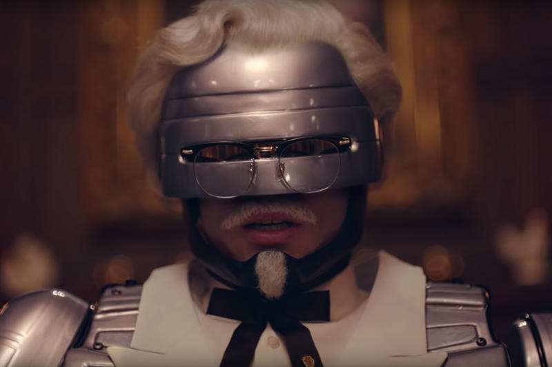 KFC's Newest Colonel Sanders Is Robocop ad campaign Kentucky Fried Chicken secret recipe