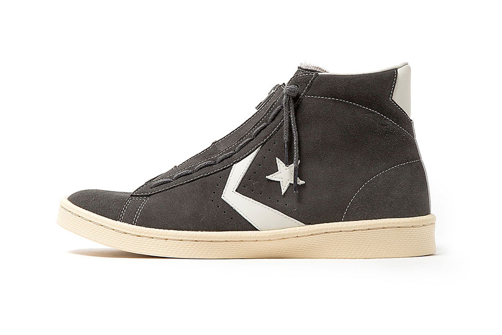 ノンネイティヴ コンバース nonnative converse japan pro leather hi suede collaboration navy grey コラボレーション コラボスニーカー ネイビー グレー release date drop info colorways zipper exclusive coverchord vendor high top info 2016 february 16 2019