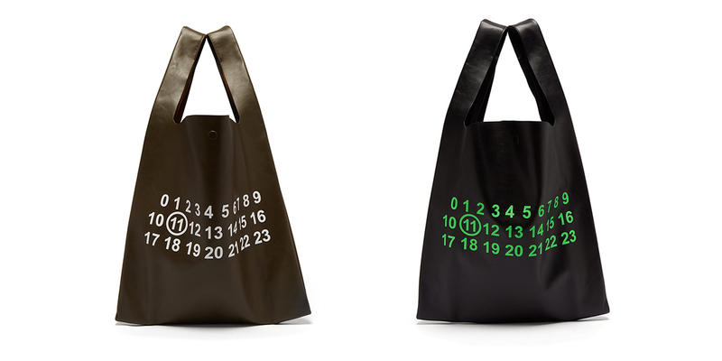 Maison Margiela Leather Logo Print Tote Bag Release