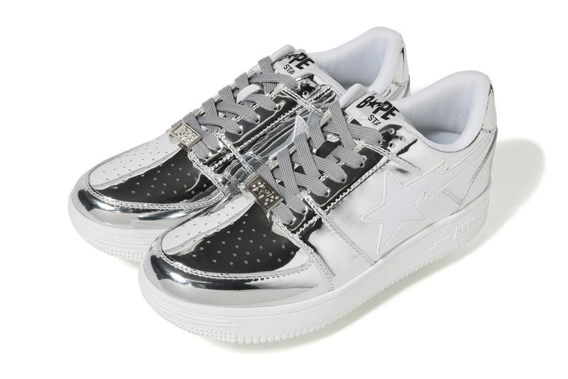 A BATHING APE Bapesta Foil Gold Silver Low First Look Release Drop I.T. Hong Kong
