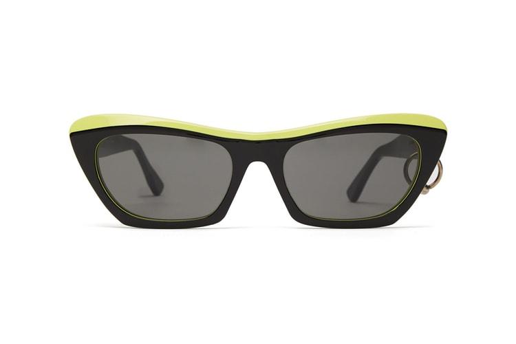 e695318c07 Acne Studios  Two-Tone Azalt Sunglasses Are Defined by Pierced Detailing