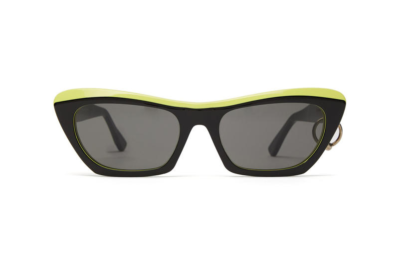 a635b4d9ea acne studios azalt sunglasses pierced temple neon black accessories  Scandinavian fashion