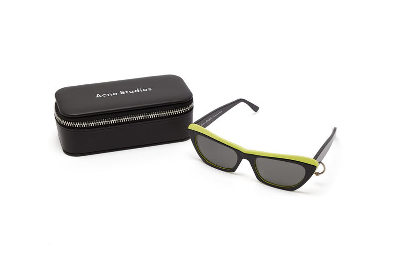acne studios azalt sunglasses pierced temple neon black accessories Scandinavian fashion