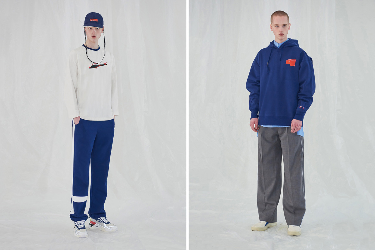 "ADER error x PUMA ""FASTER THAN YOUTH"" Lookbook Video ready-to-wear shirts tracksuits pants track red pool korea og  running cali rs system grey red yellow white german double tongue 3m material RS-100 Cell Venom Basket Platform"