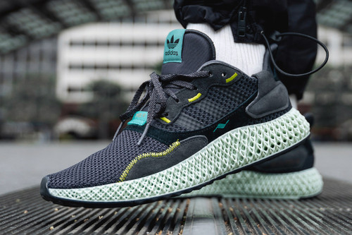 """adidas Consortium's ZX4000 4D Surfaces in a """"Carbon"""" Colorway"""