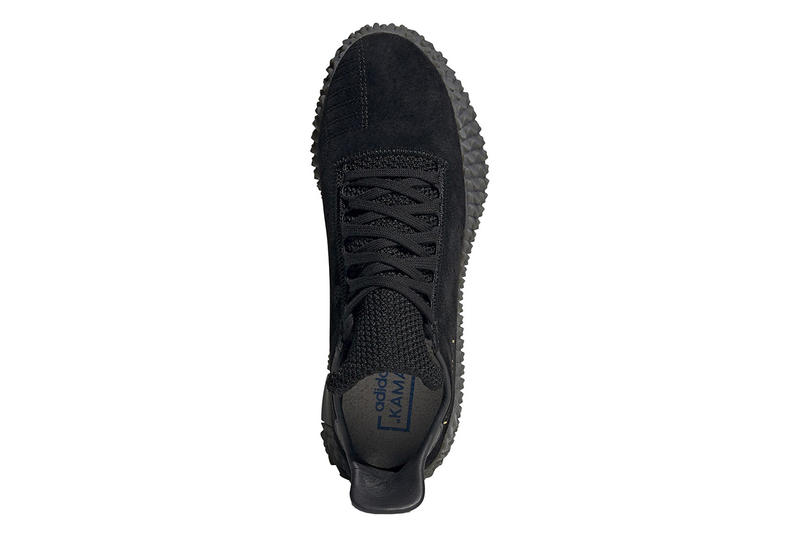 adidas Kamanda Drops Triple Black Colorway Suede leather mesh gold foil football silhouette sneaker oldschool classic neighborhood