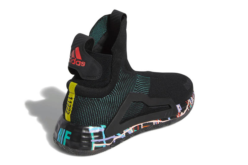 adidas N3XT L3V3L Sneakers Gets Hit With Polychromatic Accents black orange drop release date images info basketball footwear sportswear