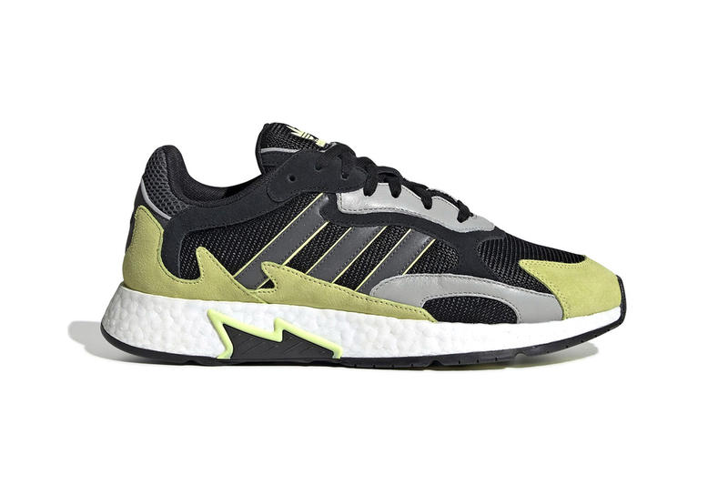buy popular fa6b4 d62f3 adidas Originals Details New TRESC Run With Faded Yellow Accents black grey  release drop date info