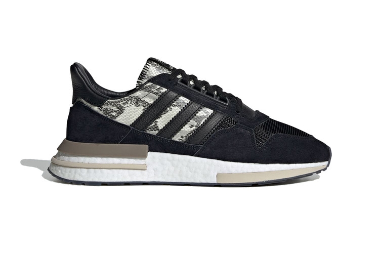 e391726182efb This adidas Originals ZX 500 RM Pairs Black Suede with Snakeskin
