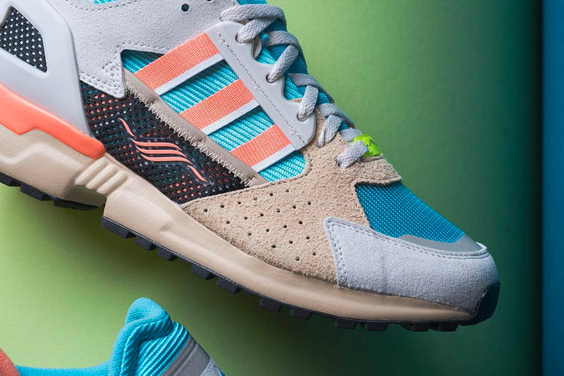 adidas ZX 10.000 C Receives a 'Supercolor' Treatment release drop info date price images footwear orange blue tan grey