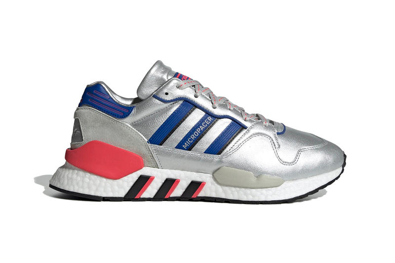 uk availability d25cb 88f55 adidas originals zx 930 eqt micropacer 2019 february footwear silver  metallic blue navy red boost sole