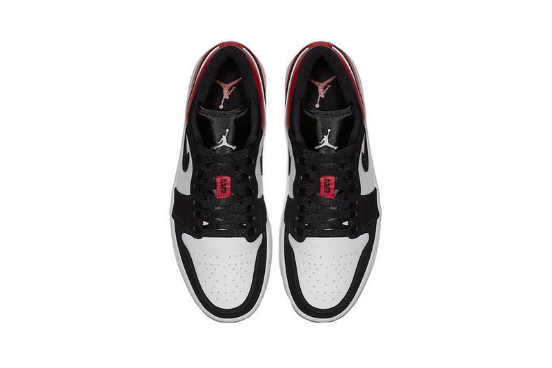 air jordan 1 low black toe white gym red 2019 brand footwear sneakers wings