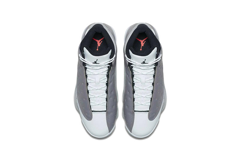 the best attitude 867a3 9e5eb air jordan 13 atmosphere grey 2019 march footwear jordan brand white gray  black hologram