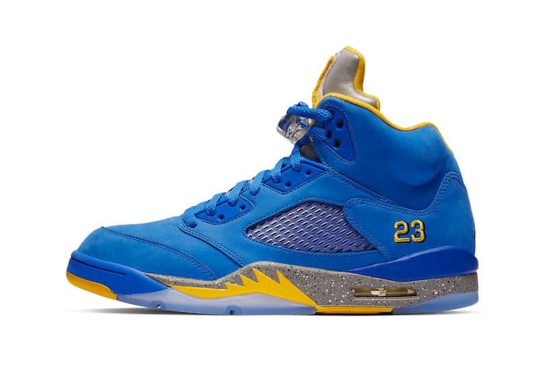 "Air Jordan 5 JSP ""Laney"" Release Date yellow blue white sneaker january 2019  stockx"