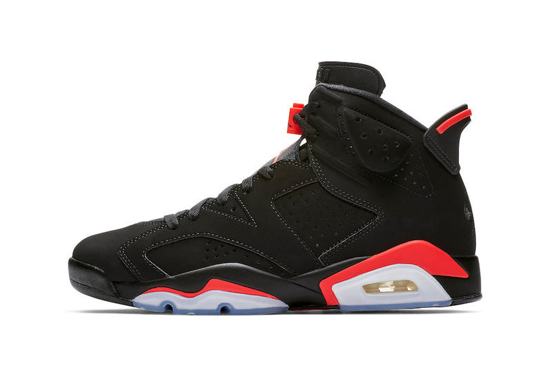 "Air Jordan 6 ""Black/Infrared"" Available on StockX black red infrared basketball michael nike swoosh nba all-star weekend south carolina"