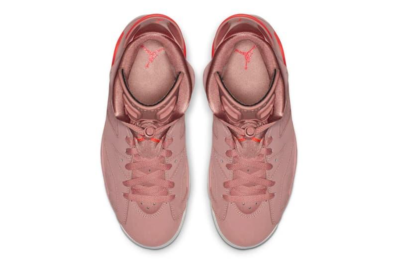 "Aleali May x Jordan Brand Air Jordan 6 ""Rust Pink"" release millennial pink"