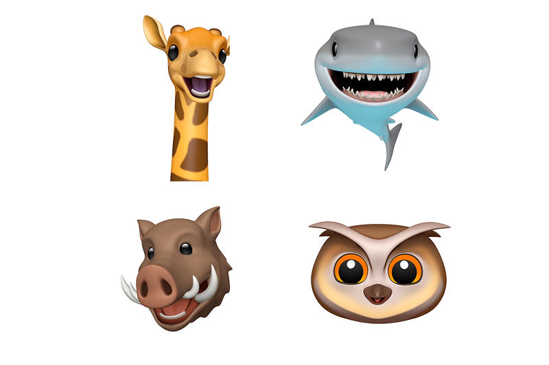 Apple iOS 12.2 New Animojis Giraffe Boar Shark Owl iphone ipad xs xr max TrueDepth camera A11 imessage